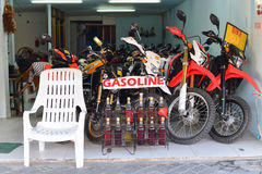 Velomotor da loja para o aluguel Foto de Stock