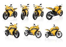 Velomotor da motocicleta que monta Rider Contemporary Shiny Concept Fotografia de Stock