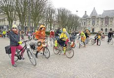 The Velorution Lille (59 Nord, France) Saturday, March 14, 2015, in front of the Palais des Beaux Arts. Stock Images
