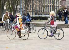 The Velorution Lille (59 Nord, France) Saturday, March 14, 2015, in front of the Palais des Beaux Arts. Stock Photo
