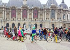 The Velorution Lille (59 Nord, France) Saturday, March 14, 2015, in front of the Palais des Beaux Arts. Royalty Free Stock Images