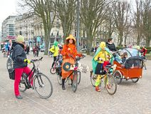 The Velorution Lille (59 Nord, France) Saturday, March 14, 2015, in front of the Palais des Beaux Arts. Stock Photography
