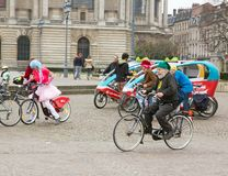 The Velorution Lille (59 Nord, France) Saturday, March 14, 2015, in front of the Palais des Beaux Arts. Stock Photos