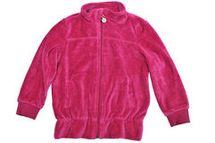 Velour jacket. Velour baby  jacket over the white Royalty Free Stock Photography