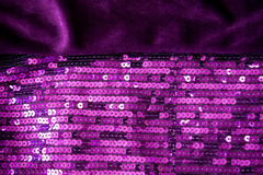Velours et sequin violets Image stock