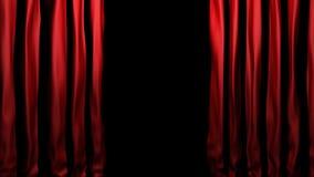 velours rouge d'étape de rideaux Photographie stock libre de droits