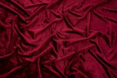 Velours rouge foncé Photo stock