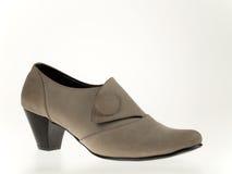 Veloursleder-Frauen-Schuh Stockfoto