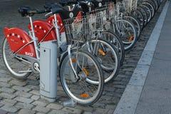 Velov自助自行车在利昂法国 库存照片