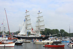 Velsen, οι Κάτω Χώρες - 19 Αυγούστου 2015: Πανί Άμστερνταμ 2015 Στοκ φωτογραφία με δικαίωμα ελεύθερης χρήσης