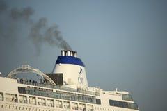 Velsen, οι Κάτω Χώρες - το Oktober, 15ο το 2017: Cruiseship του Columbus, λεπτομέρεια της χοάνης στοκ φωτογραφία με δικαίωμα ελεύθερης χρήσης