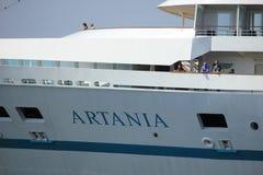 Velsen, die Niederlande -, 22. kann 2017: Artania Phoenix Reisen Lizenzfreies Stockfoto