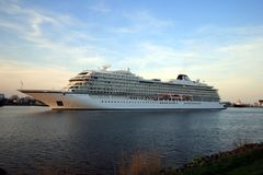 Velsen holandie - Kwiecień, 21st 2018: MV Viking morze Obraz Stock