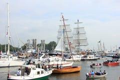 Velsen holandie - Sierpień 19 2015: Żagiel Amsterdam 2015 Obraz Royalty Free
