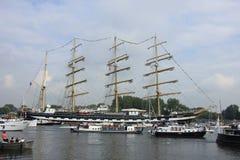 Velsen holandie - Sierpień 19 2015: Żagiel Amsterdam 2015 Fotografia Stock
