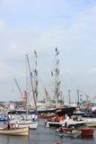 Velsen holandie - Sierpień 19 2015: Żagiel Amsterdam 2015 Zdjęcia Royalty Free