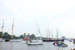 Velsen, los Países Bajos - 19 de agosto de 2015: Vela Amsterdam 2015 Fotos de archivo