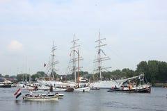 Velsen, los Países Bajos - 19 de agosto de 2015: Vela Amsterdam 2015 Imágenes de archivo libres de regalías