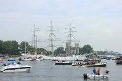 Velsen, los Países Bajos - 19 de agosto de 2015: Vela Amsterdam 2015 Fotografía de archivo libre de regalías