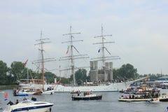 Velsen, los Países Bajos - 19 de agosto de 2015: Vela Amsterdam 2015 Foto de archivo libre de regalías