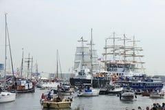 Velsen, los Países Bajos - 19 de agosto de 2015: Vela Amsterdam 2015 Fotos de archivo libres de regalías
