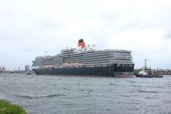 Velsen, los Países Bajos - 7 de junio de 2017: Reina Victoria, Cunard Fotografía de archivo libre de regalías
