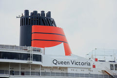 Velsen, los Países Bajos - 7 de junio de 2017: Reina Victoria, Cunard Foto de archivo