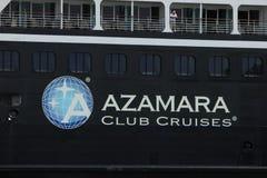 Velsen, los Países Bajos - 20 de junio de 2017: Viaje de Azamara - travesías del club de Azamara Foto de archivo
