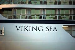 Velsen Nederländerna - April, 21st 2018: Millivolt Viking Sea Arkivfoton