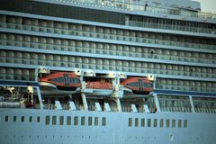 Velsen Nederländerna - April, 21st 2018: Millivolt Viking Sea Royaltyfri Foto