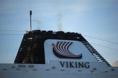 Velsen Nederländerna - April, 21st 2018: Millivolt Viking Sea Arkivfoto