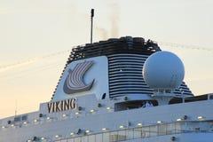 Velsen Nederländerna - April, 21st 2018: Millivolt Viking Sea Royaltyfri Fotografi