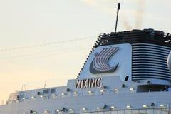 Velsen Nederländerna - April, 21st 2018: Millivolt Viking Sea Royaltyfri Bild