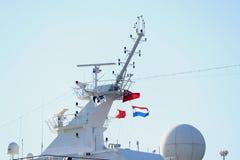 Velsen, Nederland - 17 Juli 2018: Vreedzame die Prinses door Prinses Cruises en P&O-Cruises Australië in werking wordt gesteld royalty-vrije stock foto's
