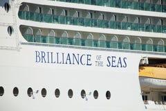 Velsen, the Netherlands - April, 20 2018: MS Brilliance of the Seas. Velsen, the Netherlands - April, 20 2018: Velsen, the Netherlands - April, 20 2018: MS royalty free stock photos