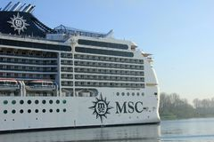 Velsen, the Netherlands - April, 20 2018: MSC Magnifica by MSC Cruises. Royalty Free Stock Photography