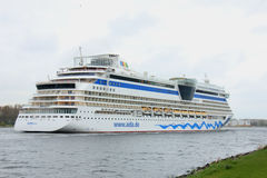 Velsen, the Netherlands -April 19th, 2017:   Aida Diva. Velsen, the Netherlands -April 24th, 2017:   Aida Diva on North Sea Canal, on it`s way to the Amsterdam Royalty Free Stock Photo