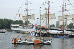 Velsen, The Netherlands - August 19 2015: Sail Amsterdam 2015 Stock Images