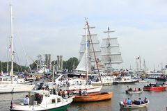 Velsen, The Netherlands - August 19 2015: Sail Amsterdam 2015 Royalty Free Stock Image