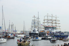 Velsen, The Netherlands - August 19 2015: Sail Amsterdam 2015 Royalty Free Stock Photos