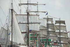 Velsen, The Netherlands - August 19 2015: Sail Amsterdam 2015 Royalty Free Stock Photo