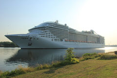 Velsen, The Netherlands - July 2nd, 2015: MSC Splendida Stock Photo