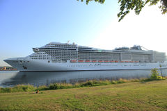 Velsen, The Netherlands - July 2nd, 2015: MSC Splendida Stock Photography