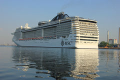 Velsen, The Netherlands - July 2nd, 2015: MSC Splendida Royalty Free Stock Images
