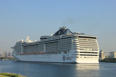 Velsen, The Netherlands - July 2nd, 2015: MSC Splendida Stock Image