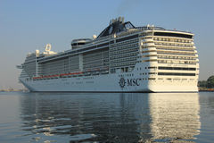 Velsen, The Netherlands - July 2nd, 2015: MSC Splendida Royalty Free Stock Photos