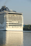 Velsen, The Netherlands - July 2nd, 2015: MSC Splendida, detail Stock Photography