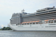 Velsen, the Netherlands, July 7th, 2014 : MSC Magnifica. On North Sea Canal from Amsterdam towards the Ijmuiden locks, The Magnifica is operated by MSC since Stock Image