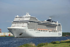 Velsen, the Netherlands, July 7th, 2014 : MSC Magnifica. On North Sea Canal from Amsterdam towards the Ijmuiden locks, The Magnifica is operated by MSC since Stock Photos