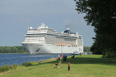 Velsen, the Netherlands, July 7th, 2014 : MSC Magnifica Stock Images